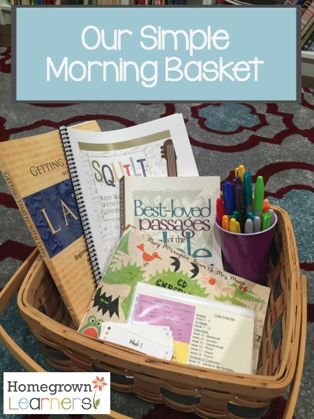 Our Simple Morning Basket