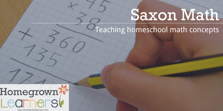 Saxon Math at Homegrown Learners