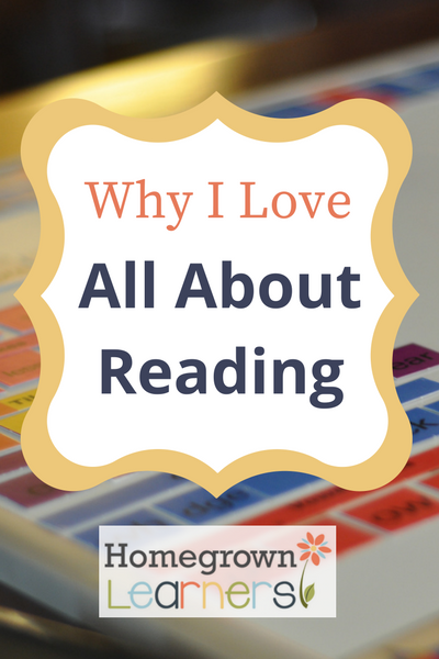 Why I Love All About Reading in our Homeschool