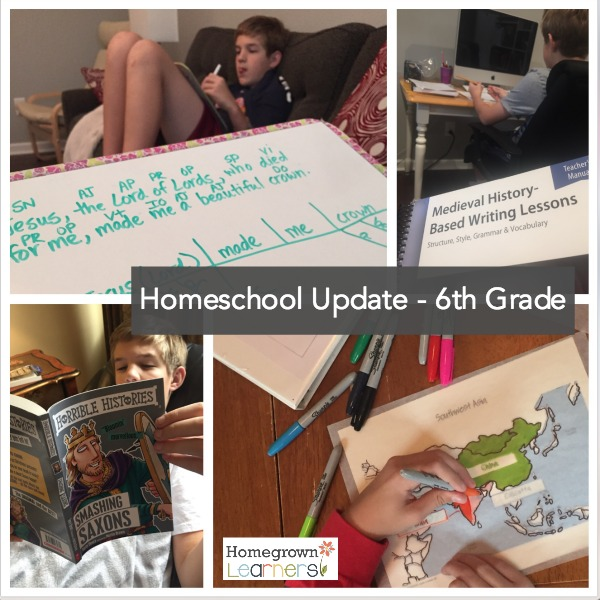 Sixth Grade Homeschool Update