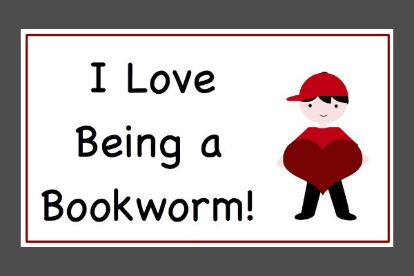 I Love Being a Bookworm Free Printable