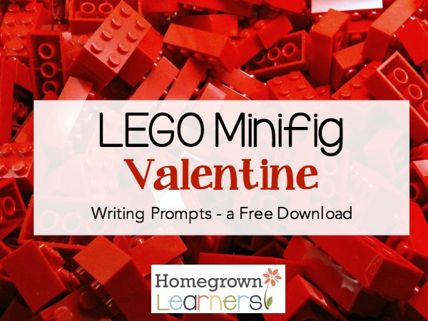 LEGO Minifig Valentine Writing Prompts