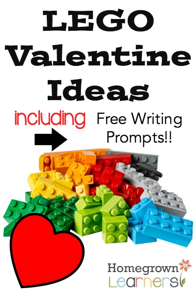 LEGO Valentine Ideas and Free Writing Prompts