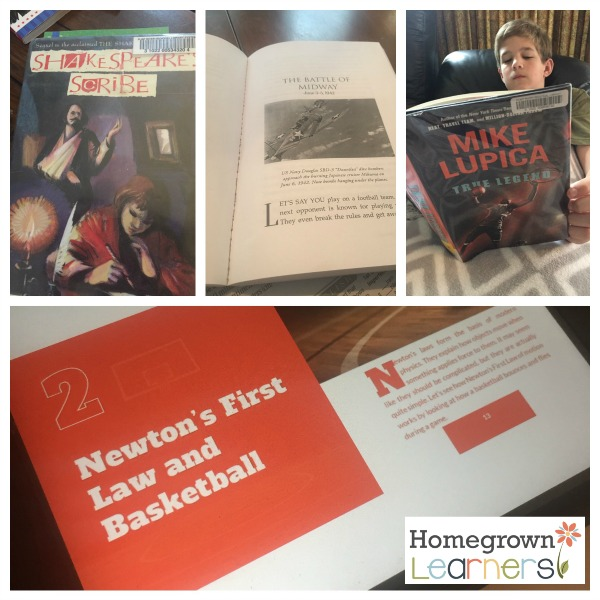Books We're Reading:  Homeschool Update February 2017