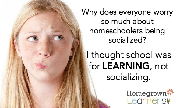 """are homeschoolers adequately socialized No, homeschoolers aren't """"properly socialized"""" that's a good thing for them but aren't you worried they won't be properly socialized."""