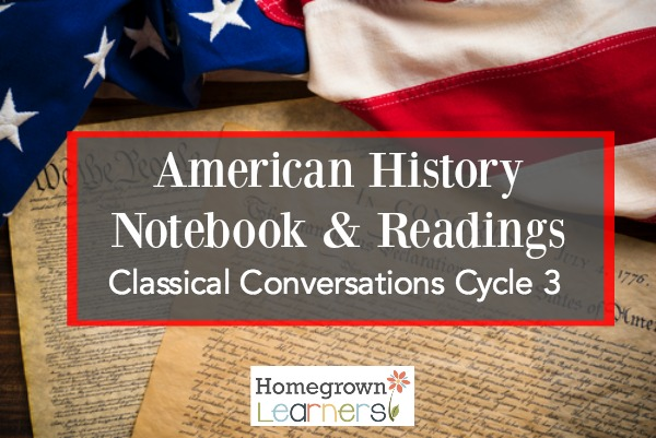 Create a History Notebook for CC Cycle 3:  Readings and additional resources for weeks 1-12