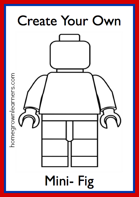 Create Your Own LEGO Minifig - free printable