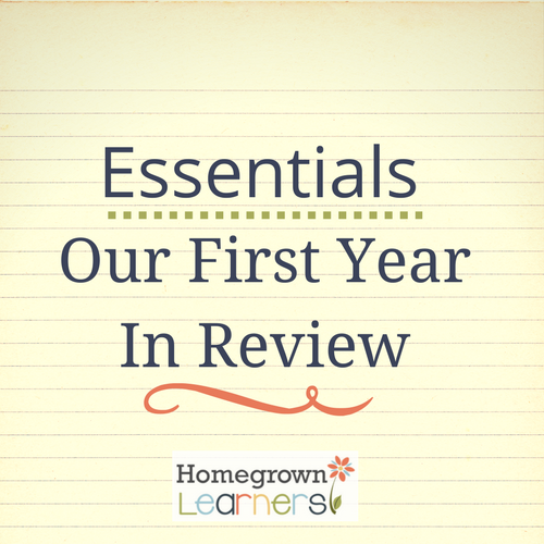 Classical Conversations Essentials:  Our First Year in Review
