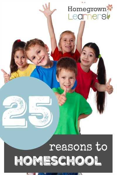 25 Reasons to Homeschool
