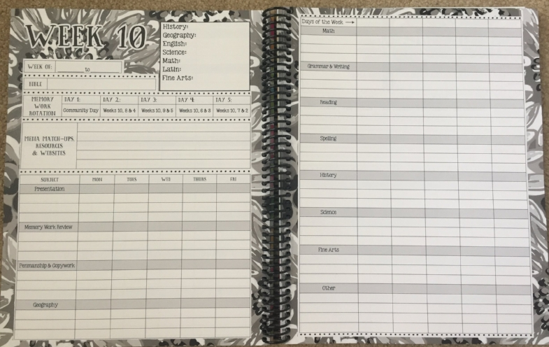 Classical Homeschool Planner for CC Families