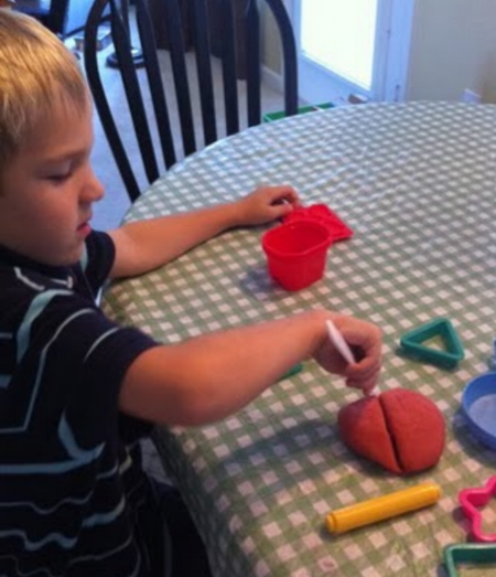 Apple Pie Play Doh