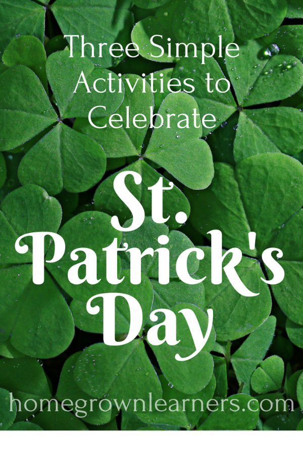 Three Simple Activities to Celebrate St. Patrick's Day