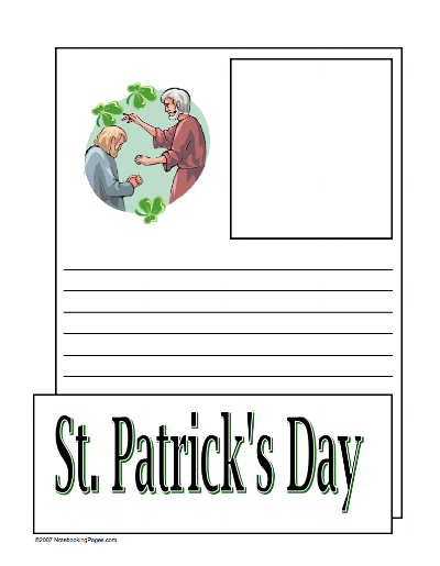 St Patrick's Day Notebooking