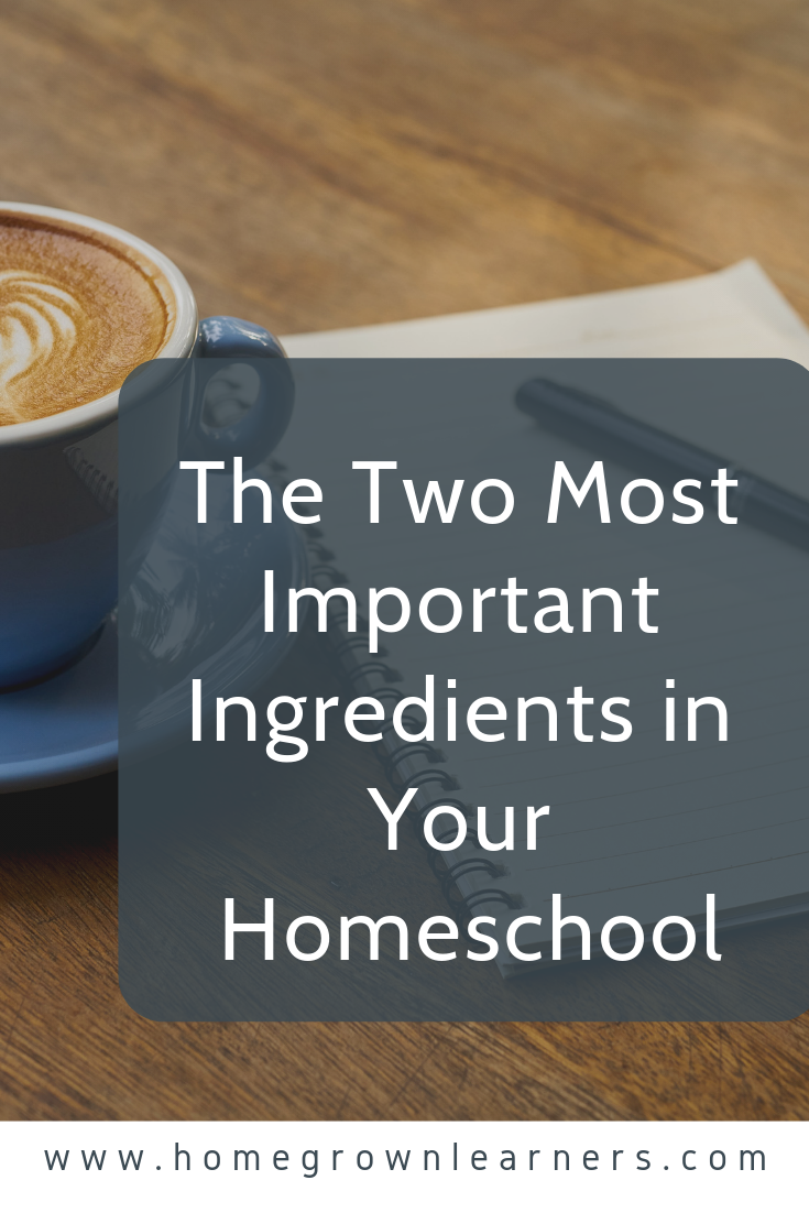 The Two Most Important Ingredients in Your Homeschool