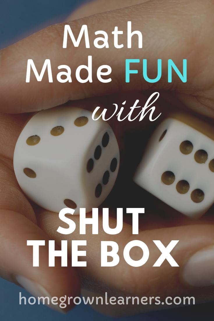 Make Math Fun with Shut the Box