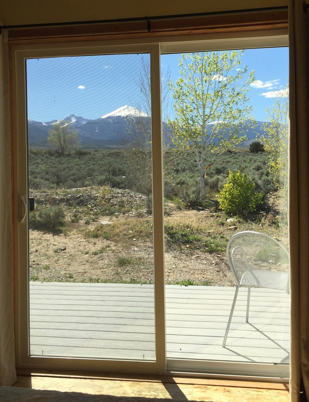 View of great basin national park from your Bunkhouse bed.