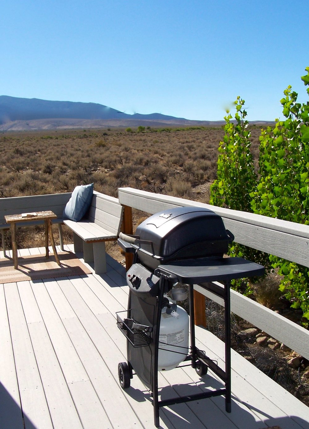 Gas barbecue grill on your private deck.