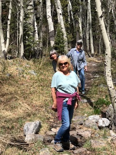 bunkhouse boss margaret hiking baker creek with guests joan and suzy  April 27, 2018