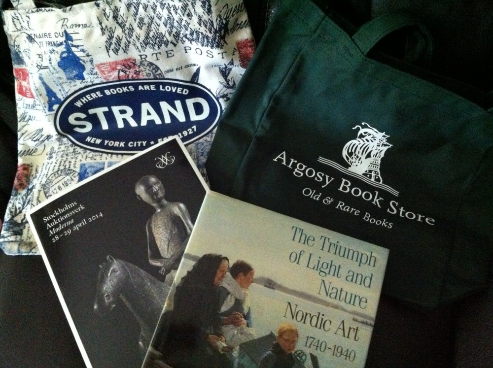 Two of the great bookstores -- Argosy and Strand