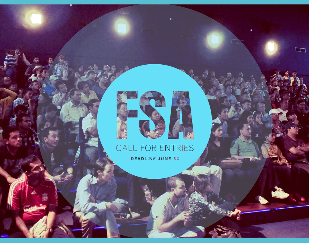 FRONT SIDE: Postcard for Film SouthAsia's upcoming call for entries.