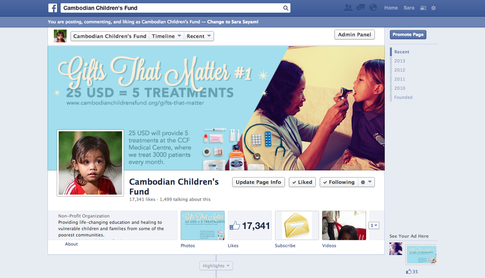 i also designed 11 FB covers for each day we wanted to showcase a new Gift That Matters.