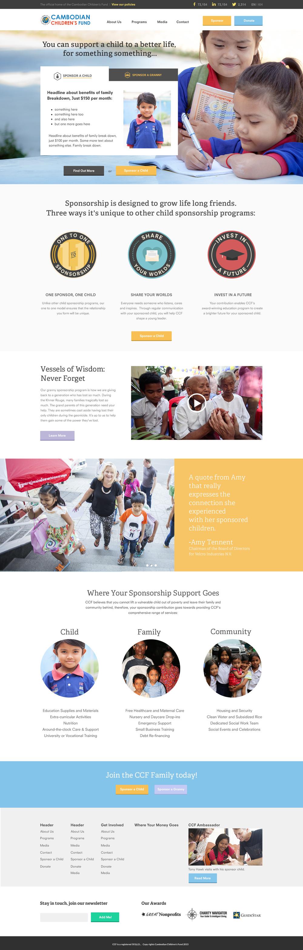 Sponsorship Landing Page
