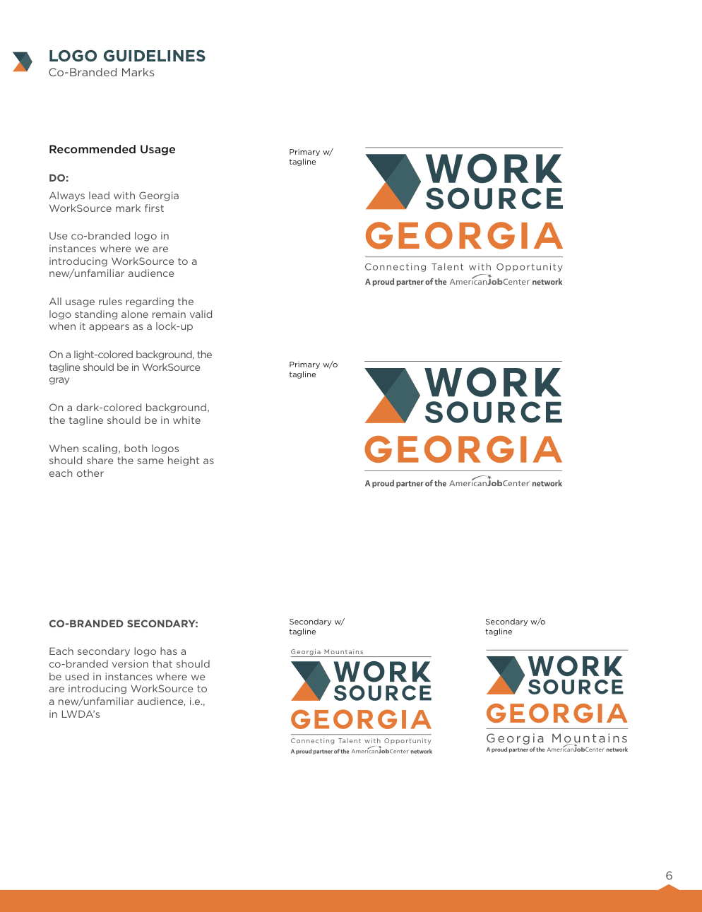 Inside page of the Brand Guidelines