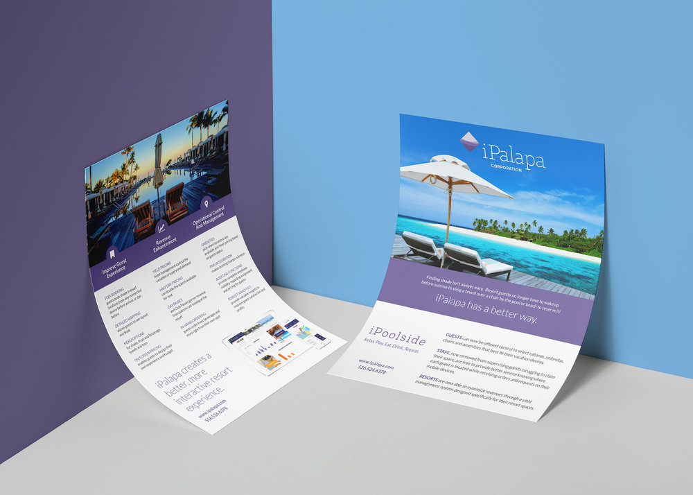 Client iPalapa Product Two-page Flyer Skills Graphic Design