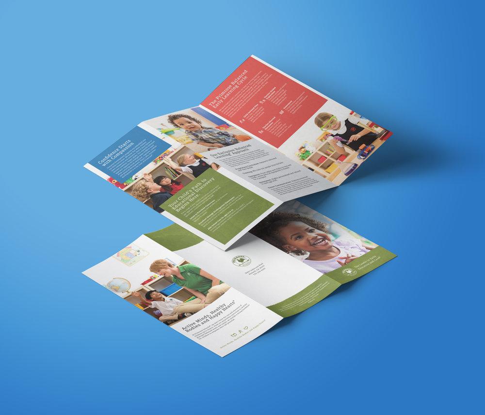 Client  Primrose Schools  Product  Tri-fold Brochure  Skills  Graphic Design
