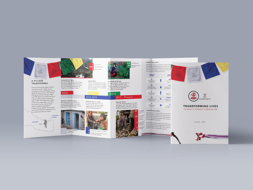 Client dZi Foundation Product Annual Report and Brochure Skills Graphic Design, Illustration