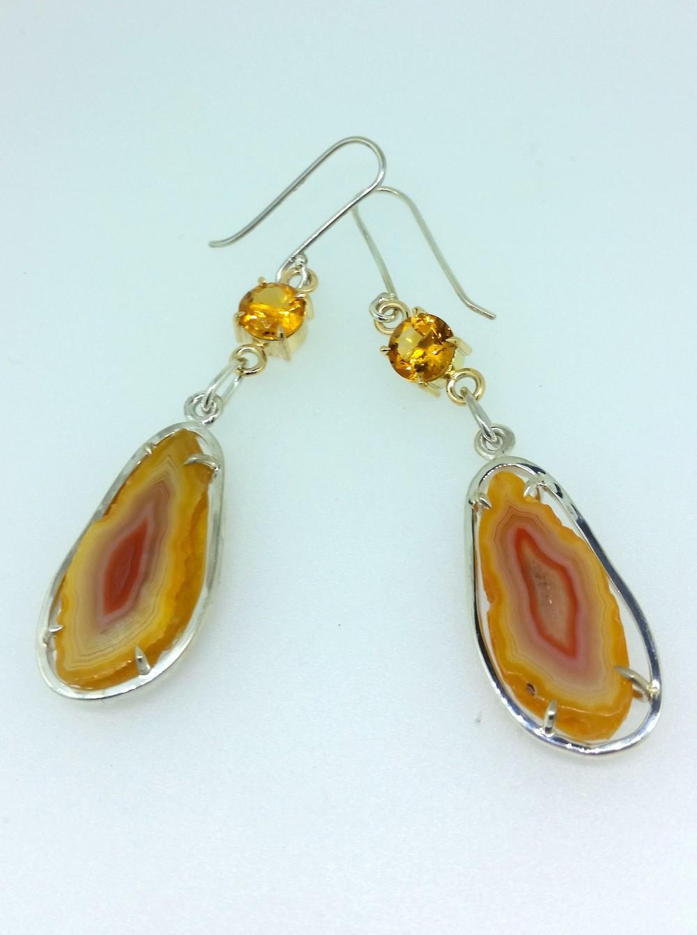 Citrine and Agate Earrings 2.jpg