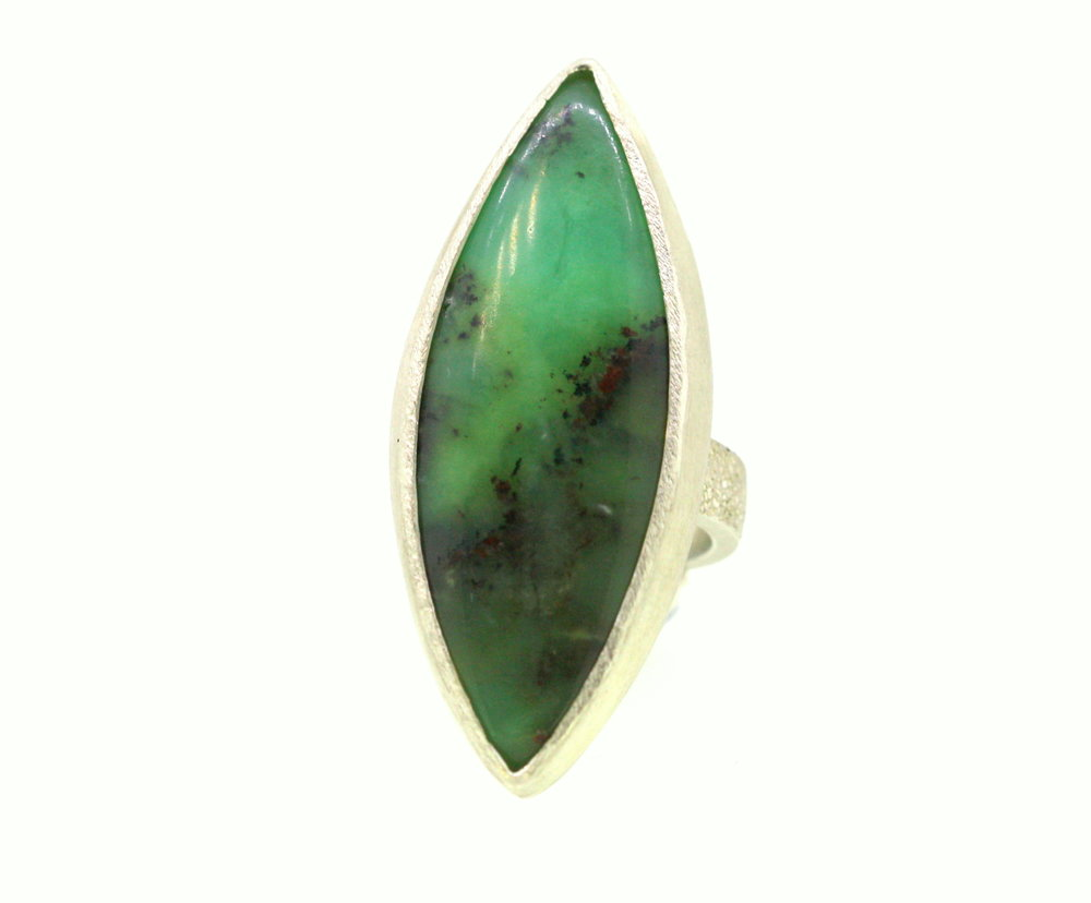 Dendritic Chrysoprase Silver Ring 4.jpg