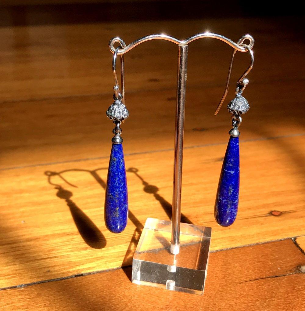 Lapis Lazuli Drop Earrings 3.5cm 1.jpg