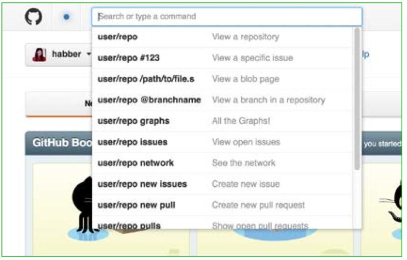 GitHub's search UI