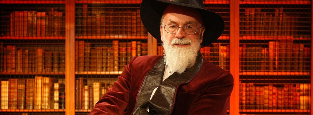 Terry Pratchett giving the Richard Dimbleby Lecture.