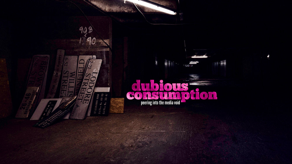 """Dubious Consumption - Our Youtube channel, where we delve into topics that fascinate us. We live by the motto:""""More interesting than good."""""""