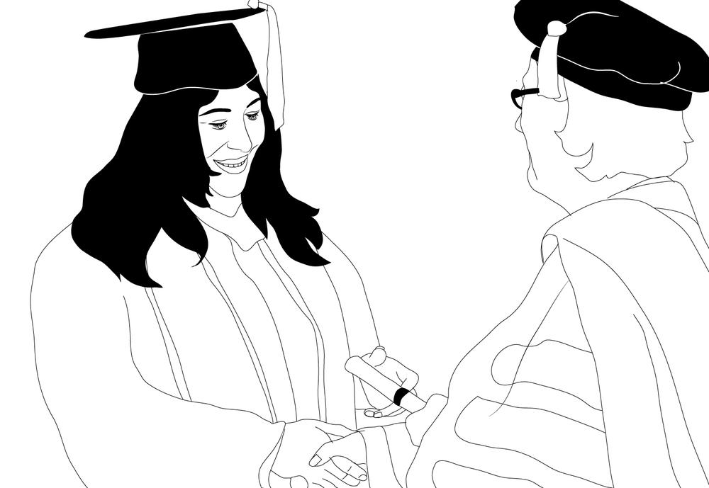 ren Graduates with her Master's