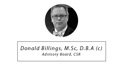 Donald Billings M.Sc, D.B.A. ( c) - Advisory Board, CSR