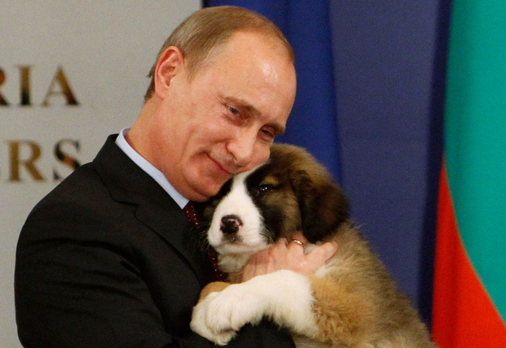 Everyone loves puppies. Even Putin. (Photo credit: The Atlantic Gallery)