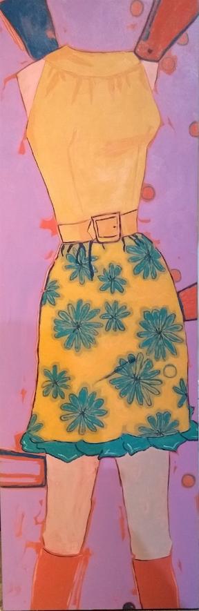 Sleeveless blouse & cocktails skirt
