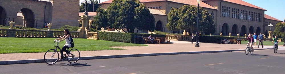 Stanford students cycle everywhere, and consequently the first day back to school resembled a scene from Breaking Away, filmed many years before most of the students were born.