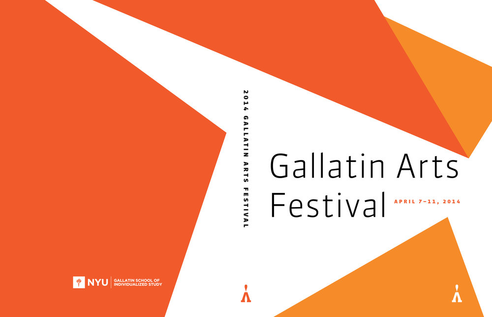 NYU Gallatin Arts Festival 2014 Catalog Cover