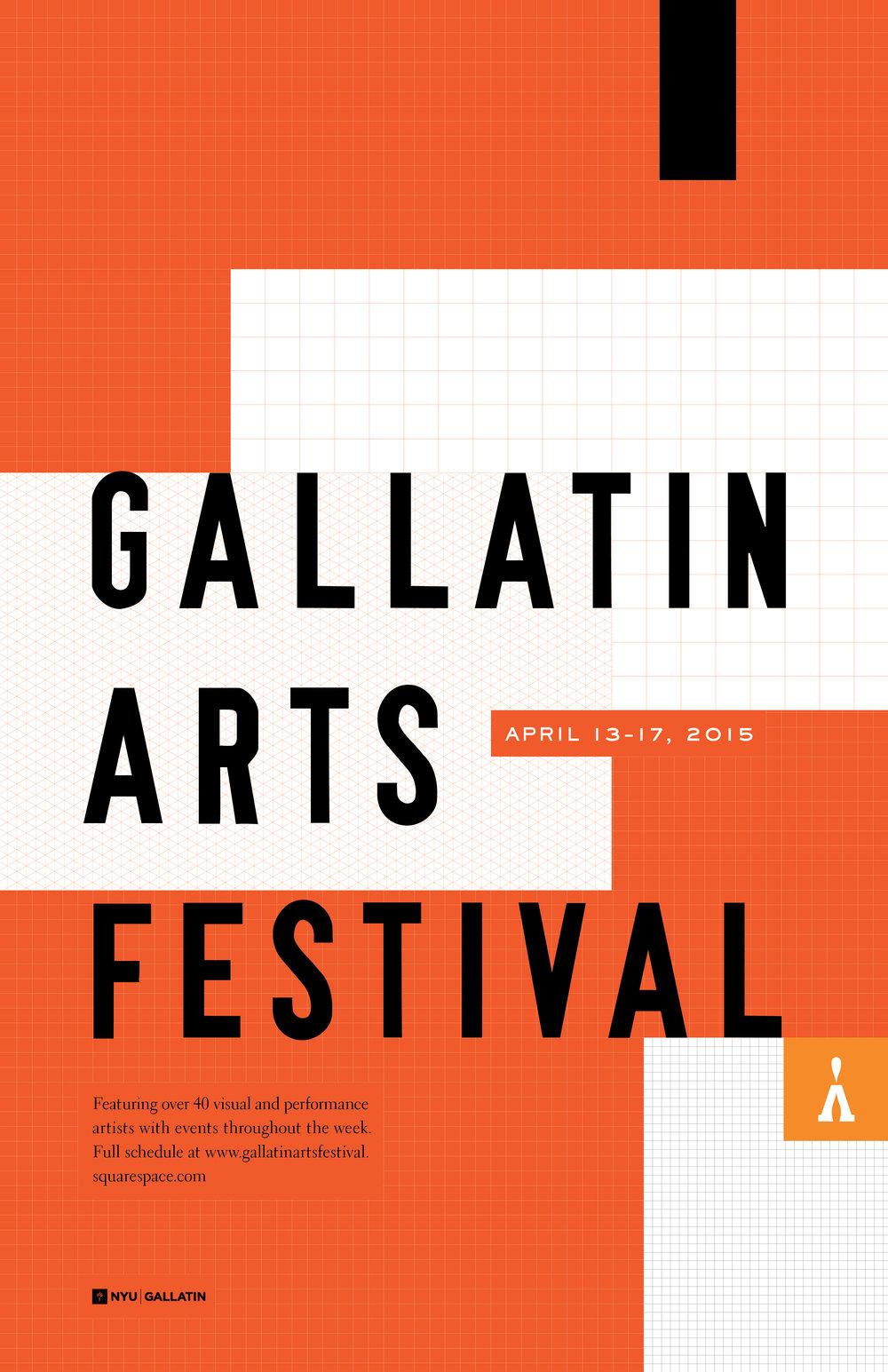 NYU Gallatin Arts Festival 2015 Poster