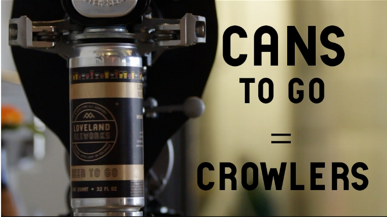 32 oz can of Loveland Aleworks beer available to go.