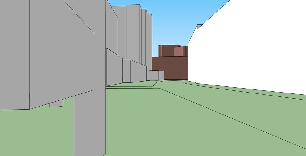 Main Street perspective - Sketchup base