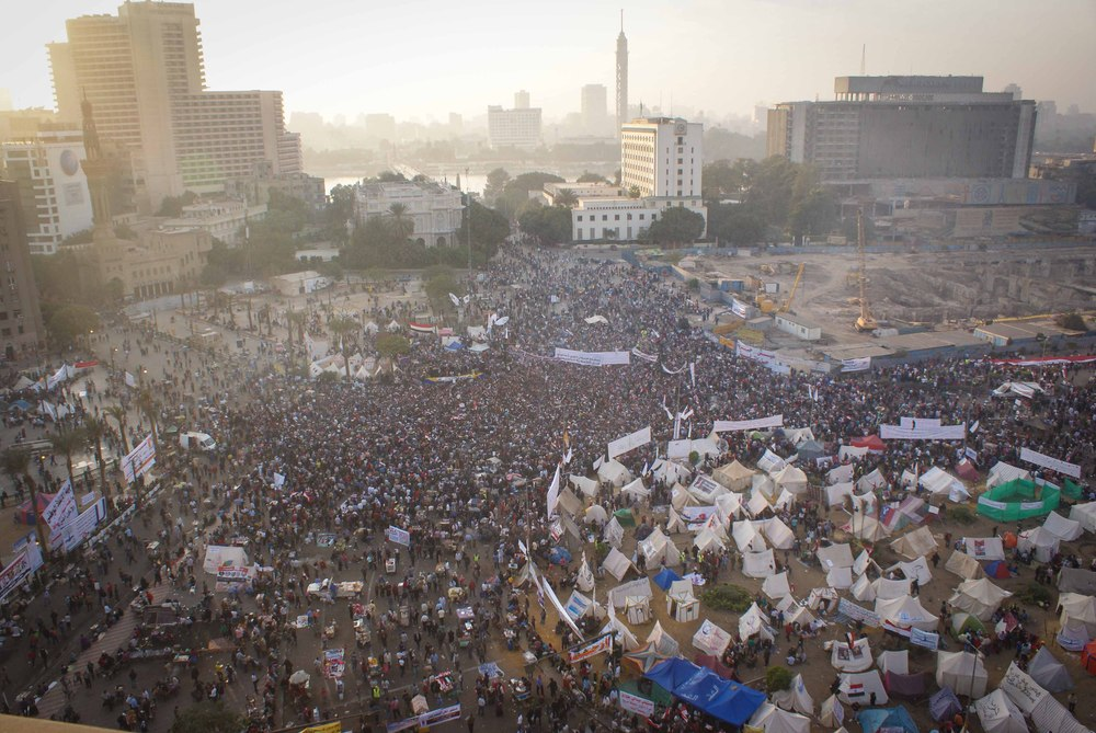 The sun sets over Tahrir Square. I wish words could capture how amazing the scene was. A mere photo will have to suffice.