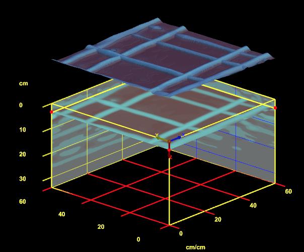 3D view of Mesh 60mm below slab