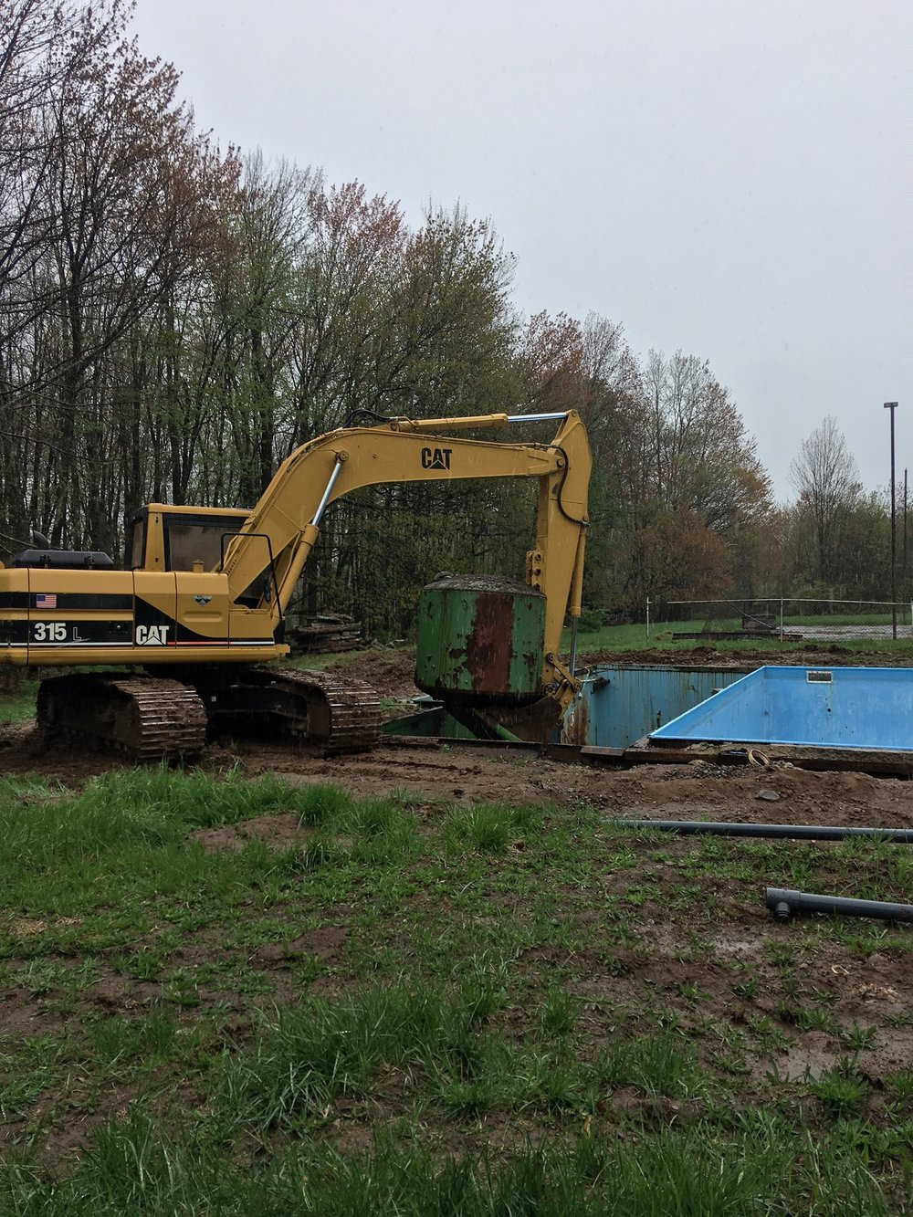 pool equipment removal