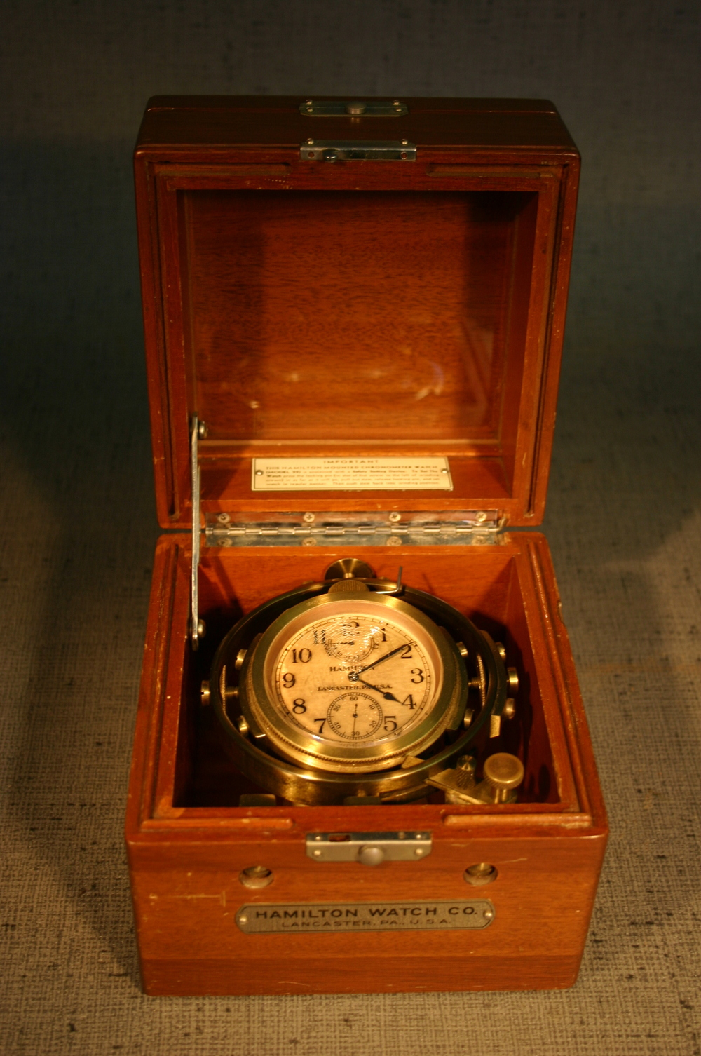 Mounted Chronometer Watch