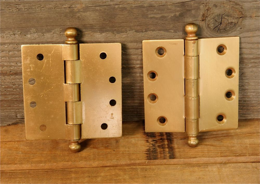 "Pair of McKinney 4"" Hinges"